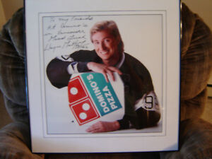 Signed Wayne Gretzky Advertising Domino's Pizza Print - $500