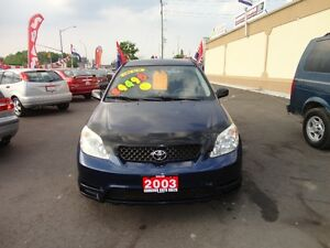 2003 Toyota Matrix Wagon E-TESTED & CERT