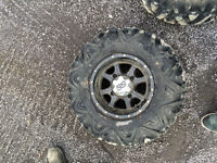 4 Dirt Tamer tires on SS rims and 4 maxis Zillas on ss rims