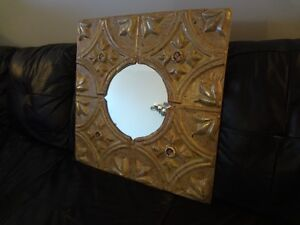 Mirror made from vintage tin ceiling Windsor Region Ontario image 2