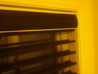 BLINDS AND SHUTTERS, CURTAIN RODS, ROLLER SHADES SALE