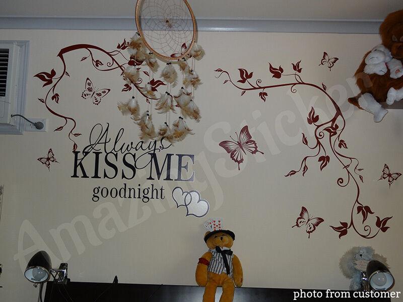 Butterfly Tree Flower Wall Stickers Wall Decals Wall Art