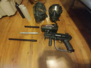 Tipmann A5 Paintball gun and accessories