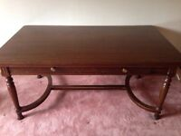 Large antique solid wood lawyer/library desk
