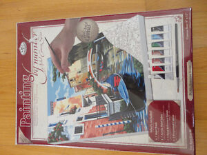 NEW paint by Numbers canvas acrylic paints mixing tray brush Set London Ontario image 1