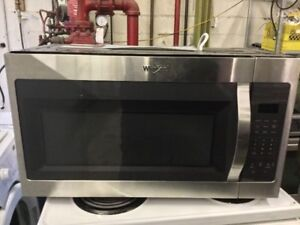 Whirlpool Brand New Stainless Steel Microwave
