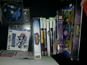 XBox 360 250 Gb and box of video games