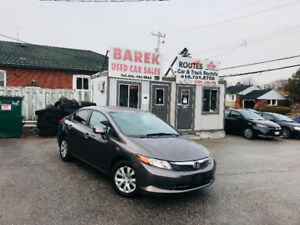 2012 Honda Civic | 1 YEAR WARRANTY* ONLY 90KMS* CERTIFIED*