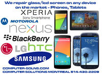 We repair glass/LCD screens for a wide range of devices