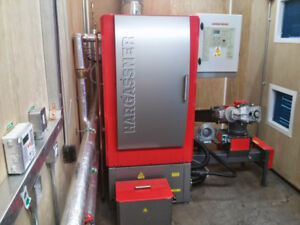 Hargassner Woodchip Boiler and Laimet Wood Chipper Combo