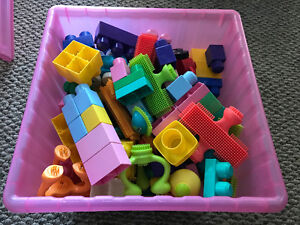 Childrens building blocks and sutch