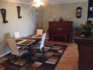 Furnished beautiful spacious bright 3 bedrooms with huge den
