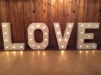 LOVE Marquee Wedding Event Rental Sign