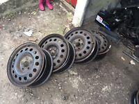"""Audi VW Skoda 5x112 16""""steel wheels not alloys"""