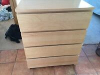 Malm chest of 4 drawers - Birch