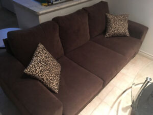 """Couch: 80"""" x 36"""" brown, barely used"""