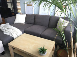 Ikea Dark Grey Couch with Chaise. $750 OBO