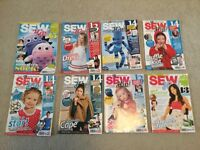 12 sewing and craft mags. All Sewing patterns unused and included