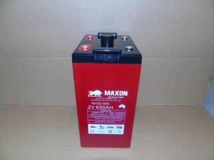650AH 2V Solar Batteries. 3YR Warranty. Perfect for Off-Grid