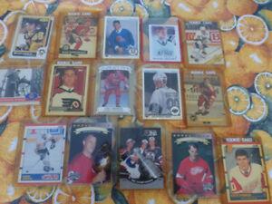 lot de cartes de hockey N.H.L.