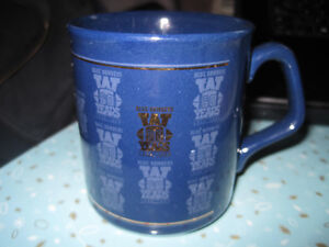 60th Anniversary Winnipeg Blue Bombers Blue and Gold Coffee Cup