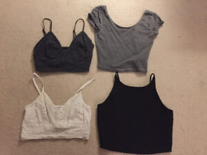 Selling 4 crop tops all smaller sizes.
