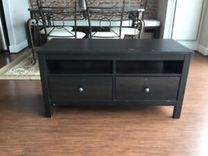 IKEA Hemnes Black-Brown TV Stand