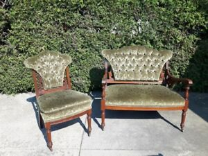 Beautiful Antique Love Seat and Matching Chair