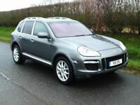 2007 PORSCHE CAYENNE 3.6 V6 TIPTRONIC S 4X4, METALLIC GREY, BLACK LEATHER