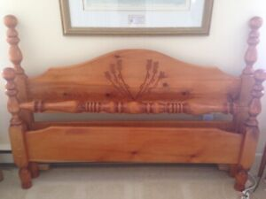 Solid pine Headboard and Footboard plus side rails