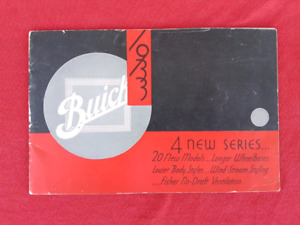 1933 BUICK SERIES 33 Dealer Sales Brochure / Catalogue