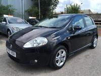 2007 Fiat Grande Punto Hatch 5Dr 1.4 8V 77 Dynamic Sport Petrol black Manual