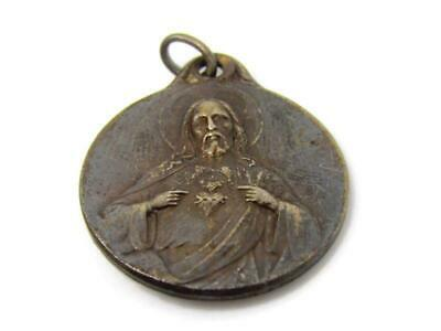 Jesus Sacred Heart Christian Medal Vintage Mary Beautiful -