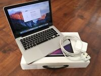 "MacBook Pro 13"" Boxed + FREE Case Like New **REDUCED**"