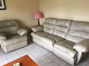 Recliner couch and recliner chair