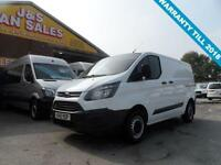 2015 15 FORD TRANSIT CUSTOM 2.2 290 LR P/V SWB 2015/15 REG IN PURE WHITE 1 OWNER