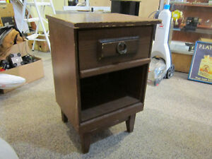 Wood Night Stand With Pull Out Drawer