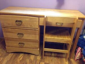 solid wood desk & dresser