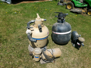 Pool sand filters and pumps