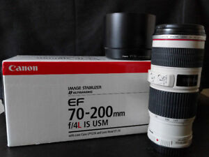 Canon EF 70-200mm f/4 IS L USM (Excellent condition)