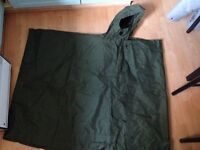 Army poncho ideal for fishing or festival.