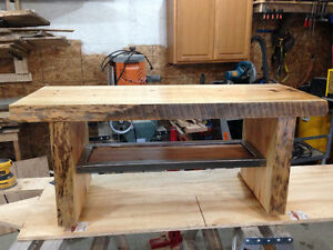 Handcrafted Live edge crib coffee table
