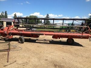 Case IH 8220 25' pull type swather with Roto Shear Strathcona County Edmonton Area image 1