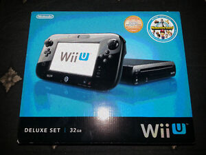 Wii U Deluxe 32GB with starter kit - BRAND NEW!