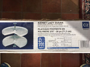 28 Inch Kidney shaped Lazy Susan