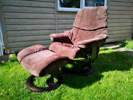 Ekornes stressless recliner arm chair