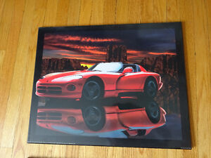 Red Dodge Viper Wall Plaque