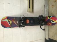 Snowboard K2 et fixations