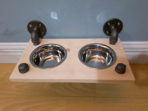 Industrial Pipe Floating Pet Bowls