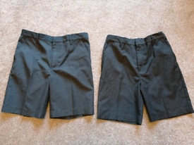 Pair of Age 10 boys grey school shorts-excellent condition